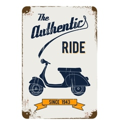 Vintage motorbike advertisement design vector
