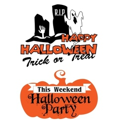 Halloween party poster and banner vector