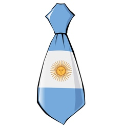 Necktie in national colours of argentina vector