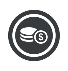 Round black dollar rouleau sign vector