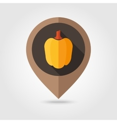 Pepper flat mapping pin icon vector