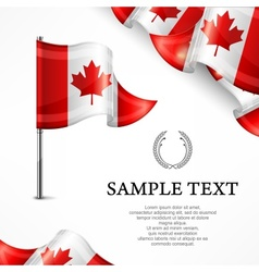 Canadian flag  banners with vector