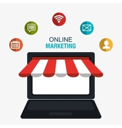 Digital marketing and online sales vector