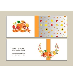 Templates for thanksgiving dinne vector
