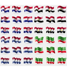 Croatia egypt netherlands chechen republic set of vector