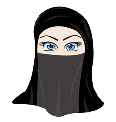 Making look younger girl in hijab vector