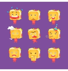 Sandwich Character Set vector image