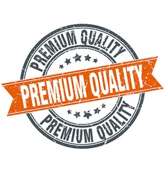 Premium quality round orange grungy vintage vector