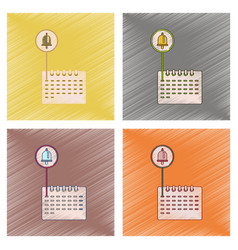 Assembly flat shading style icon school calendar vector