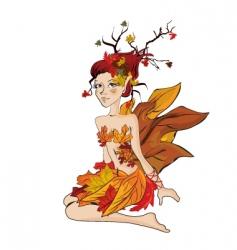 autumn fairy vector image vector image