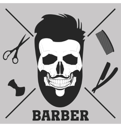 Beard barber shop vector