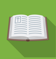 Bible icon in flat style isolated on white vector