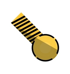 Cartoon caution striped tape warning shadow vector