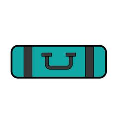 Cute blue bag of camping vector