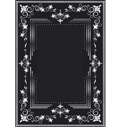Decorative frame for silver decor vector