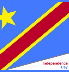 Democratic republic of the congo independence day vector