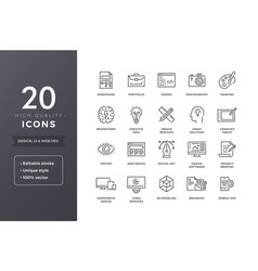 Design line icons vector