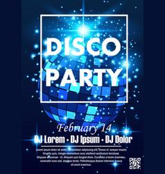 Disco night party vector
