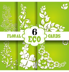 eco cards set vector image vector image