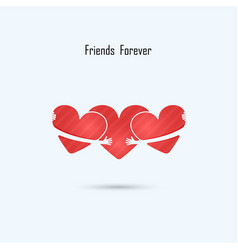 Friends forever logo design template vector