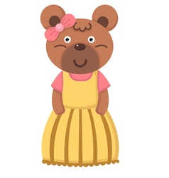 Girl bear vector