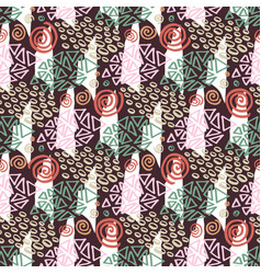 Hipster seamless pattern with color textures vector