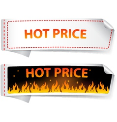 Hot price sticker label vector image
