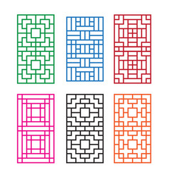 korean ornament for door window wall and fence vector image