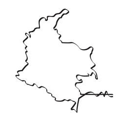 map of colombia continous line vector image