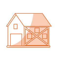 monocromatic barn design vector image