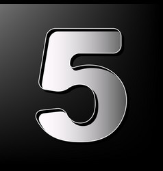 Number 5 sign design template element vector