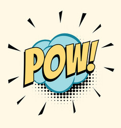 pow comic word vector image