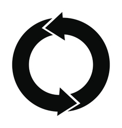 Refresh arrows black simple icon vector image vector image