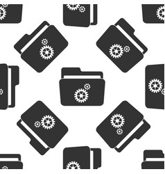 settings folder icon seamless pattern vector image vector image
