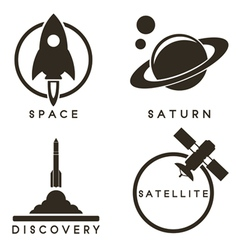 Space emblems vector image