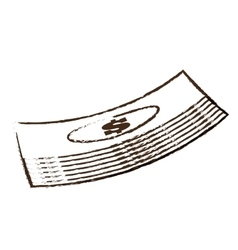Stacked bill money dollar sketch vector