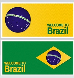 Welcome to Brazil Set of patriotic banner for vector image