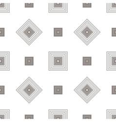 Grey square geometric seamless pattern vector image