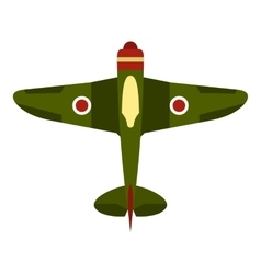 Army plane icon flat style vector