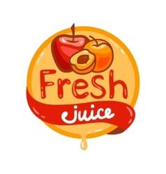 Fresh juice emblem 12 vector
