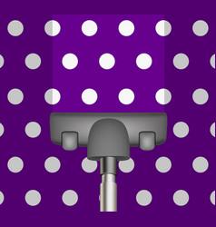 vacuum cleaner drains purple carpet vector image