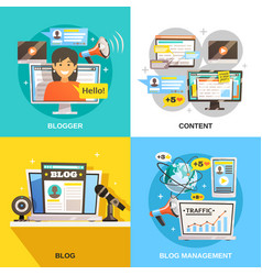 Blogger square design concept vector