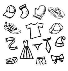 Clothes simple shapes collection vector image