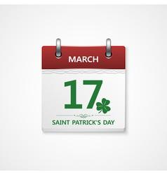 Patrick day calendar vector