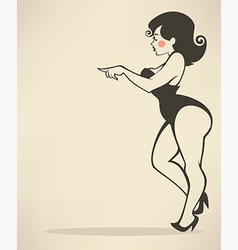 Plus size pinup vector