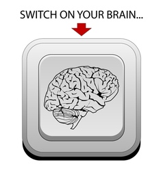 Switch on your brain vector