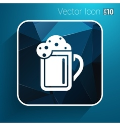 Beer glass corporate identity logo isolated cold vector