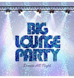 Disco background big lounge party vector