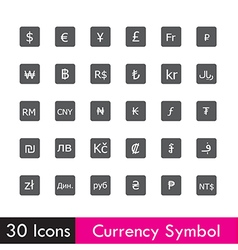 Set of currency and business icon isolated on vector