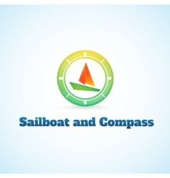 Sailboat and compass vector